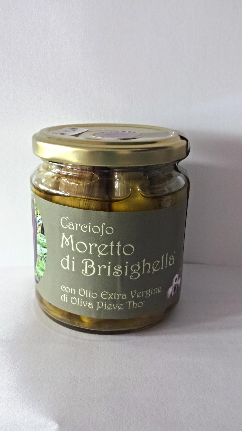 Il Carciofo Moretto di Brisighella con Olio Extra Vergine di Oliva Pieve Thò GR 180